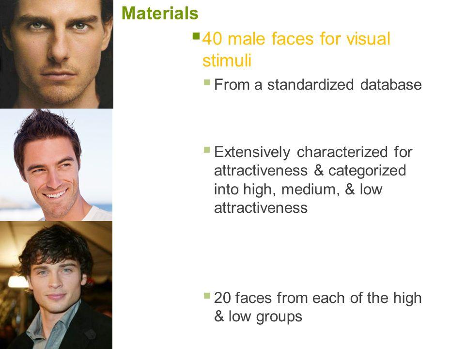40 male faces for visual stimuli