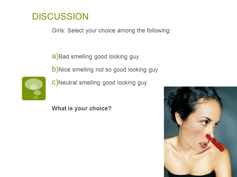 DISCUSSION Girls: Select your choice among the following: