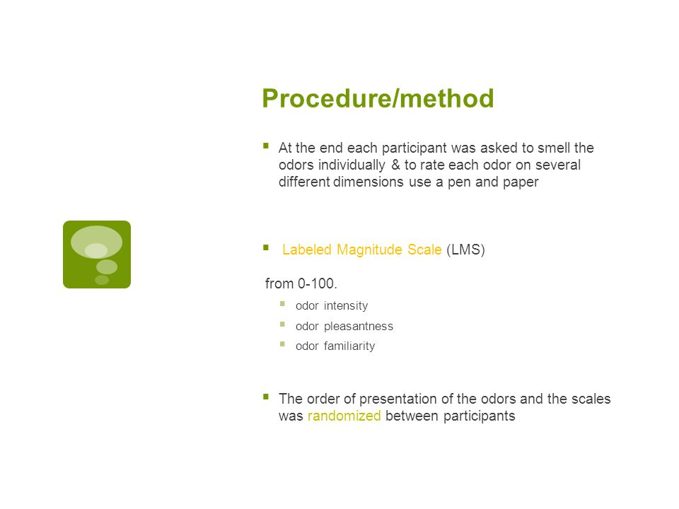 Procedure/method