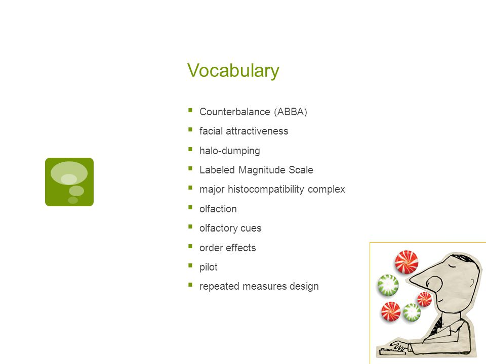 Vocabulary Counterbalance (ABBA) facial attractiveness halo-dumping