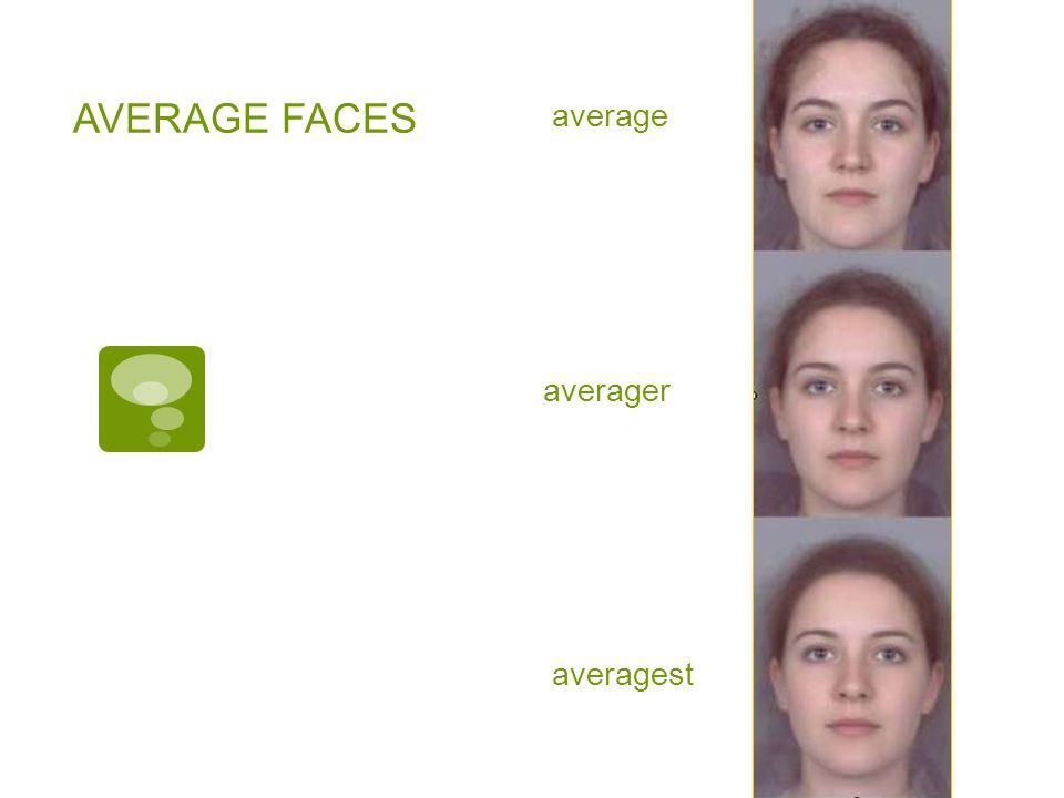 AVERAGE FACES average averager averagest