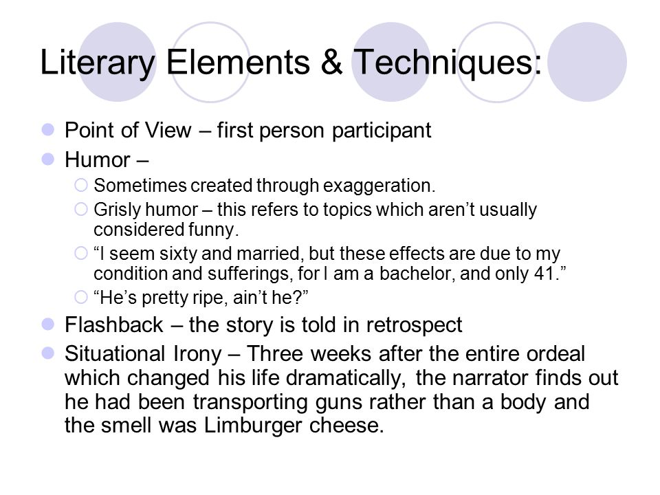 Literary Elements & Techniques: