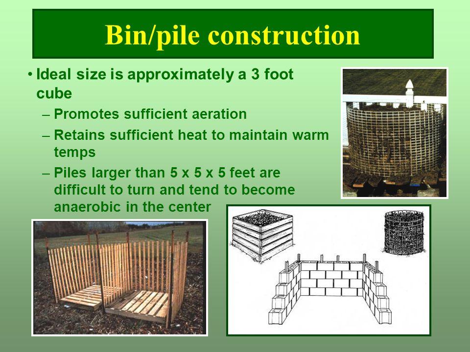 Bin/pile construction