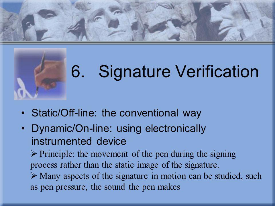 6. Signature Verification