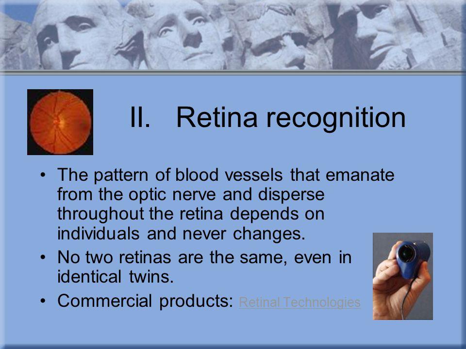 II. Retina recognition