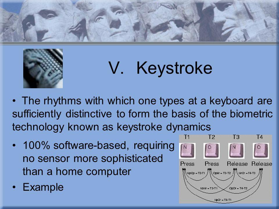 V. Keystroke