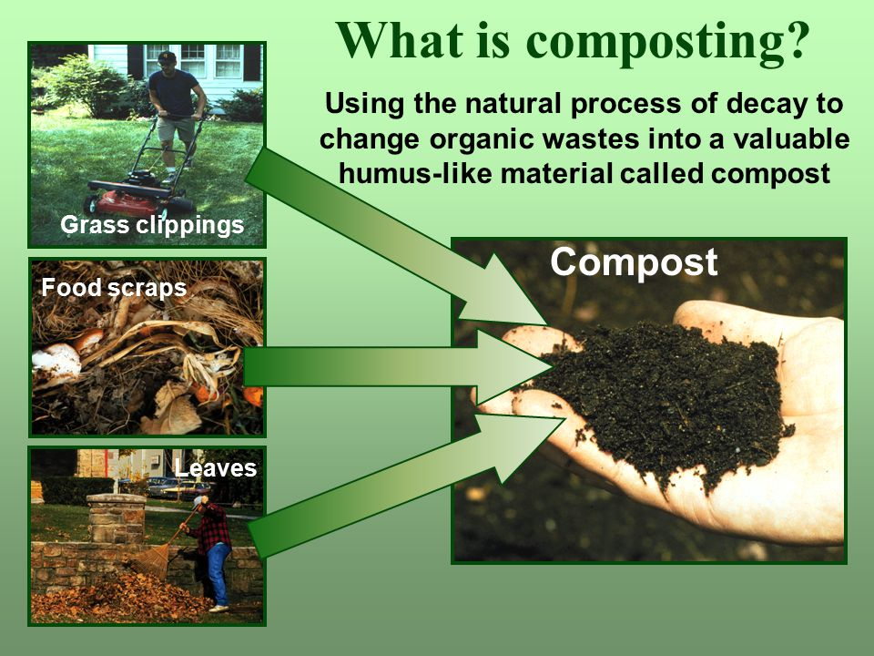 What is composting Compost Using the natural process of decay to