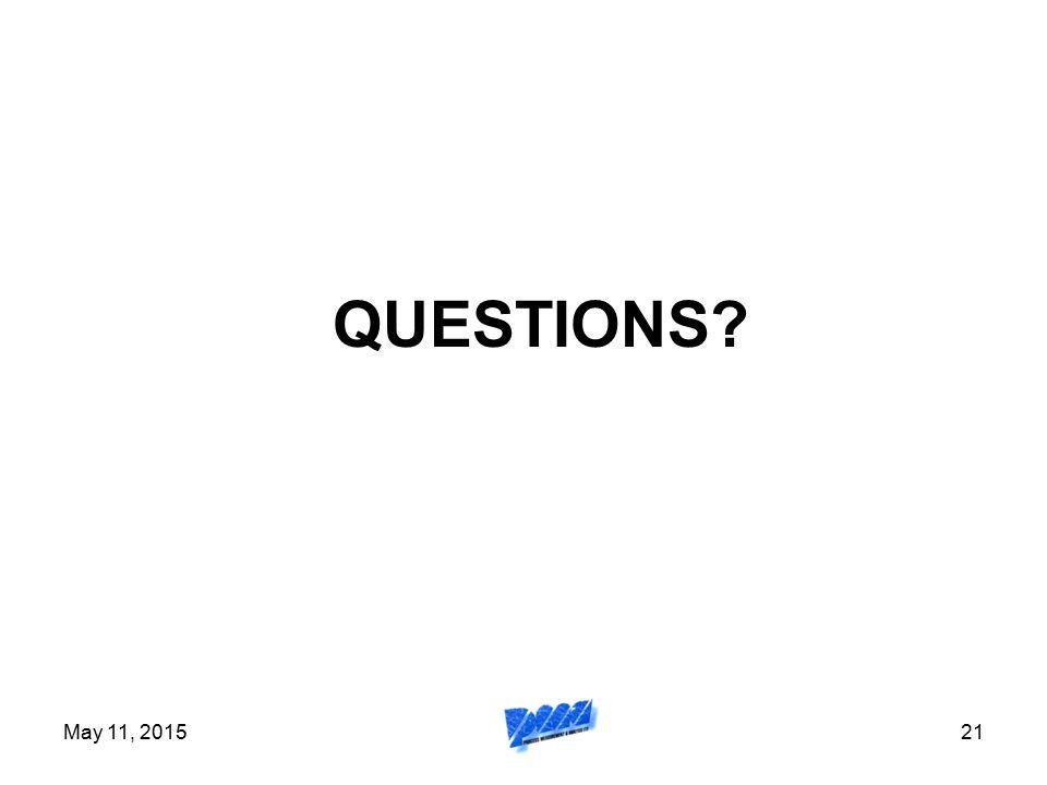 QUESTIONS April 15, 2017