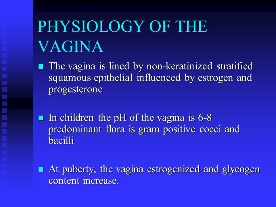 PHYSIOLOGY OF THE VAGINA