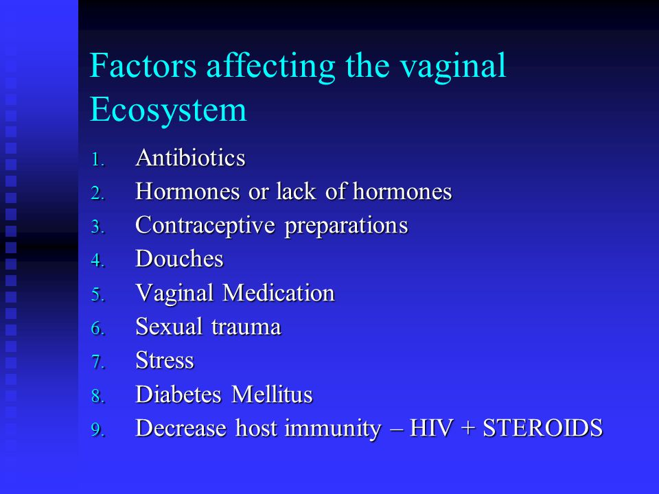 Factors affecting the vaginal Ecosystem