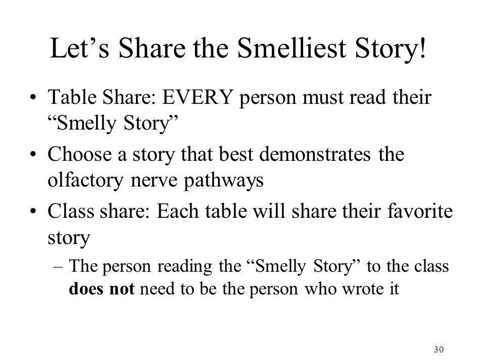 Let's Share the Smelliest Story!