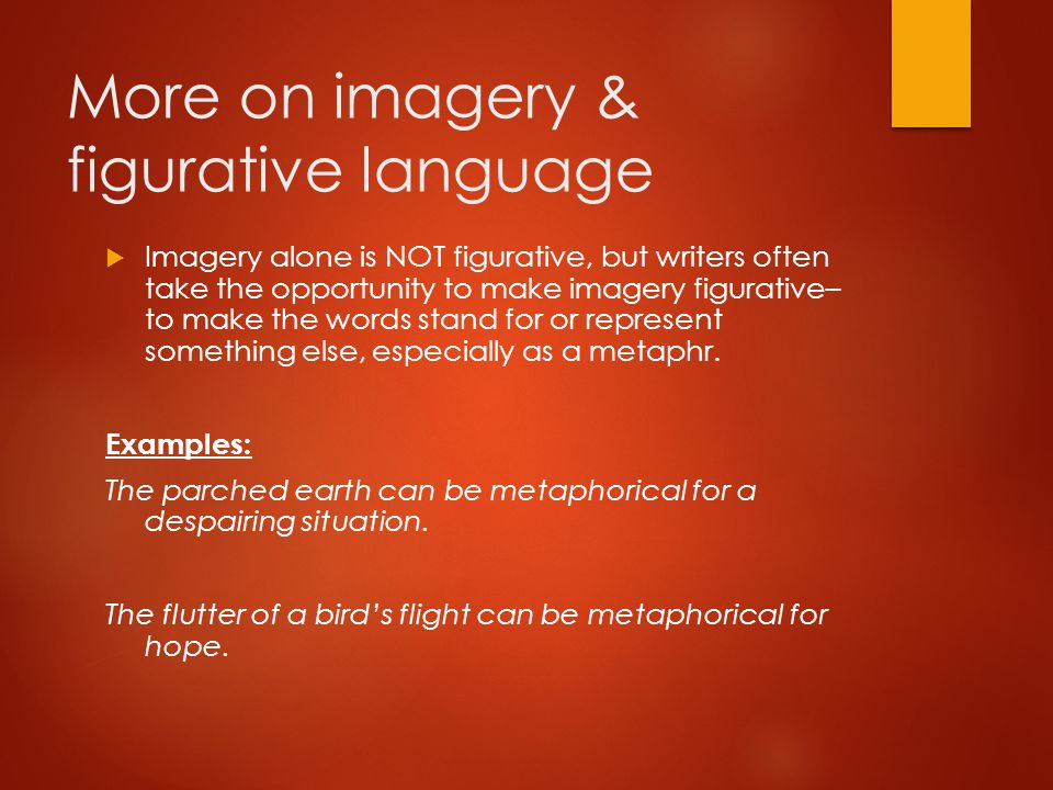 More on imagery & figurative language
