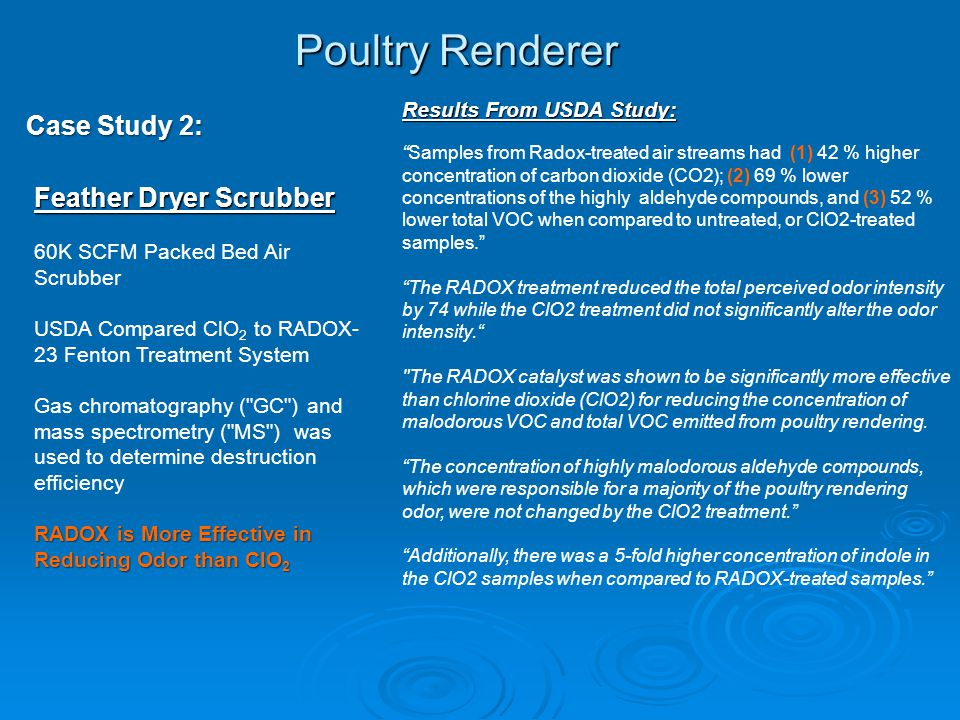 Poultry Renderer Case Study 2: Feather Dryer Scrubber