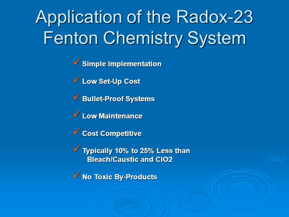 Application of the Radox-23 Fenton Chemistry System