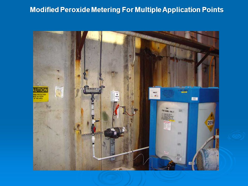 Modified Peroxide Metering For Multiple Application Points