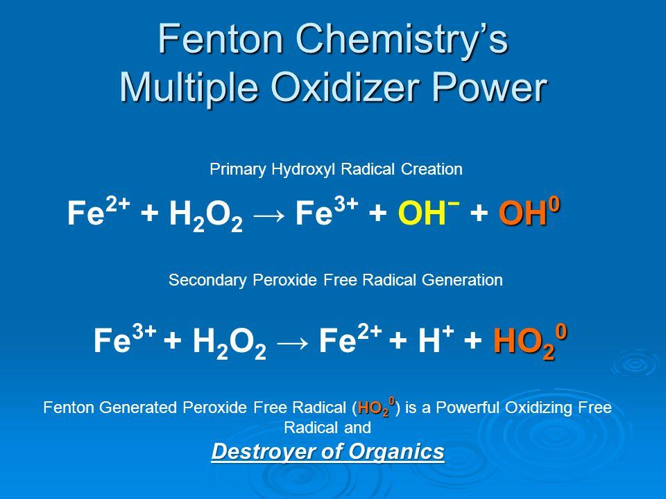 Fenton Chemistry's Multiple Oxidizer Power