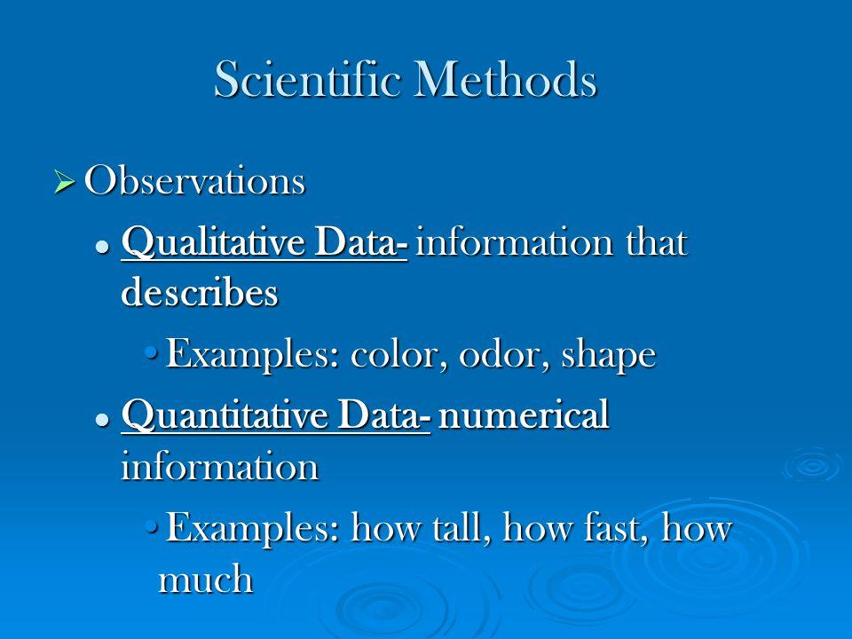 Scientific Methods Observations