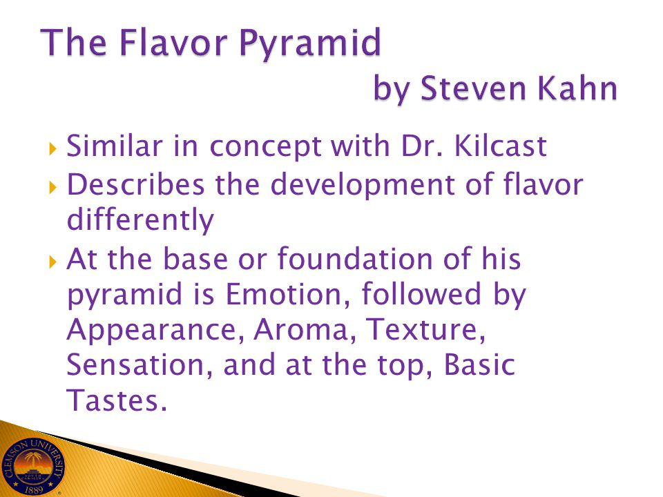 The Flavor Pyramid by Steven Kahn