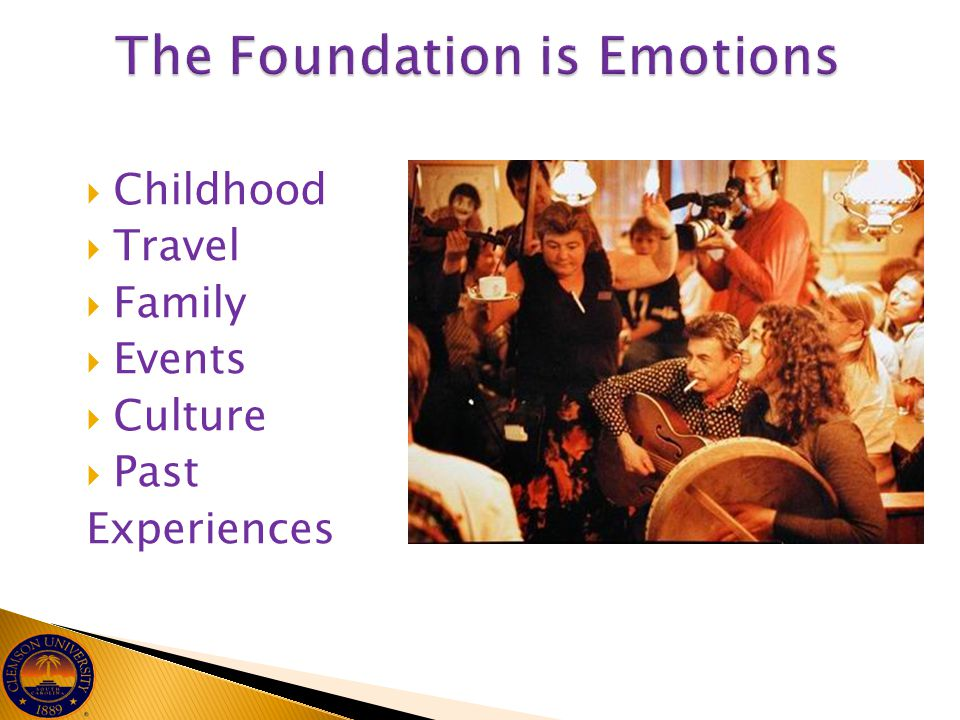The Foundation is Emotions