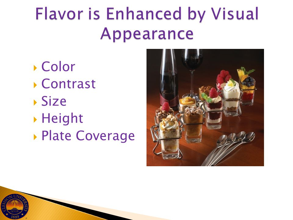 Flavor is Enhanced by Visual Appearance