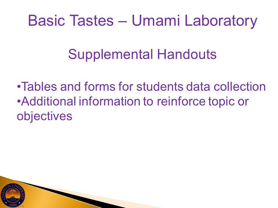 Basic Tastes – Umami Laboratory