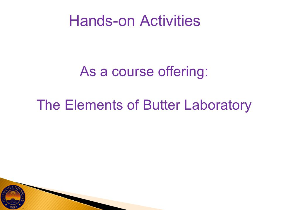 The Elements of Butter Laboratory