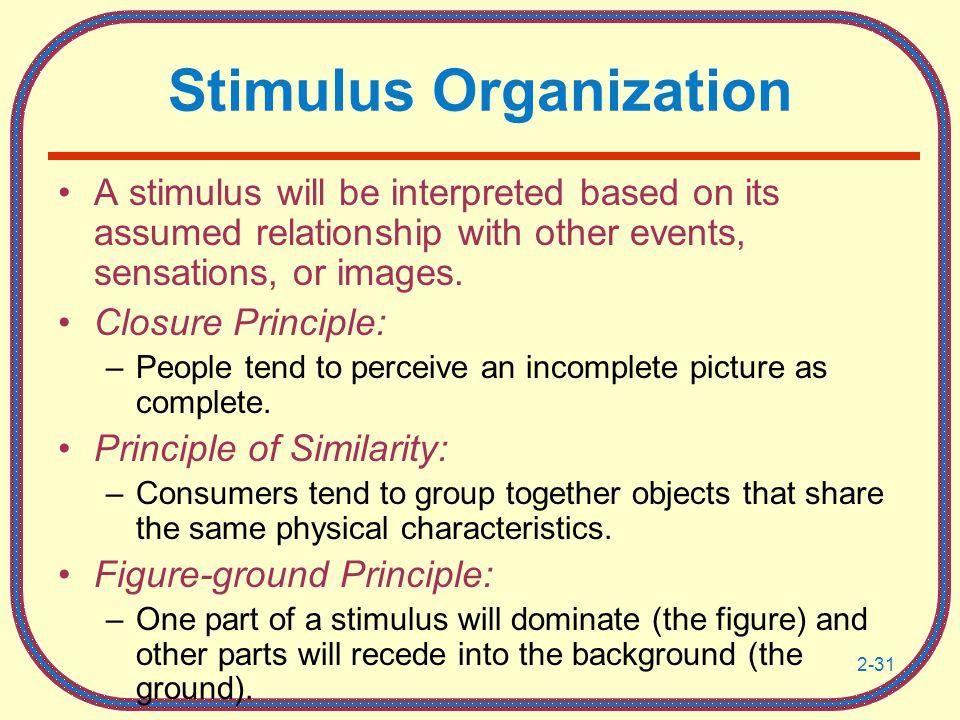 Stimulus Organization