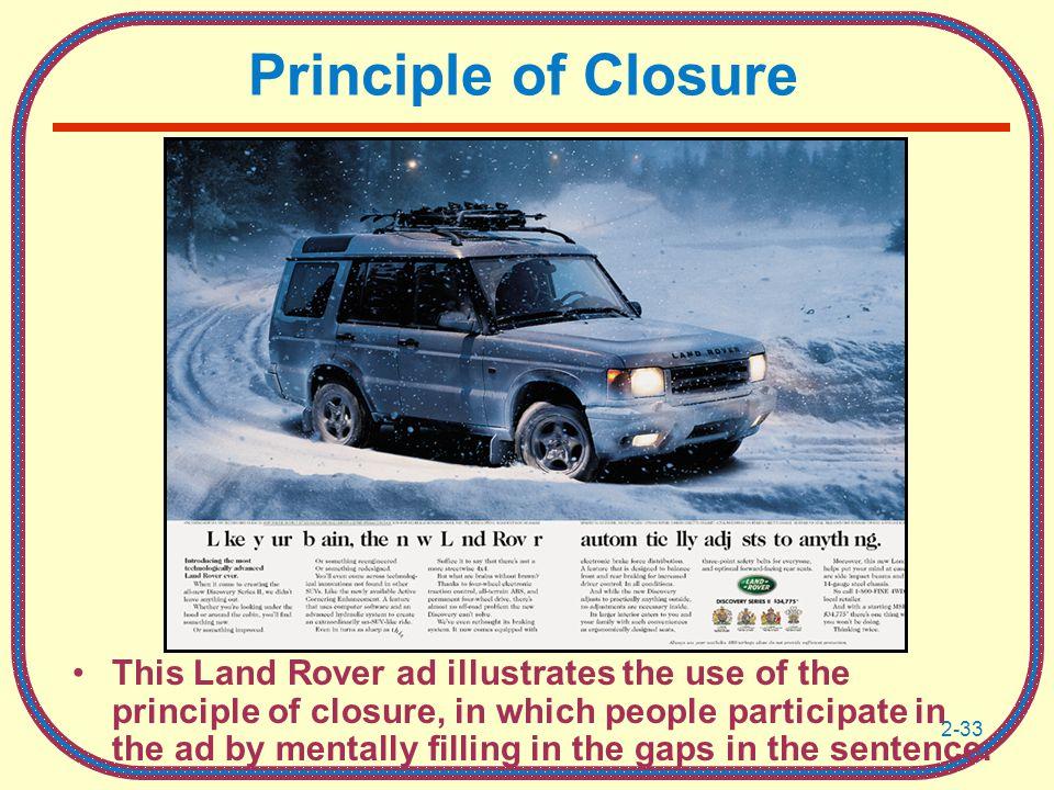 Principle of Closure
