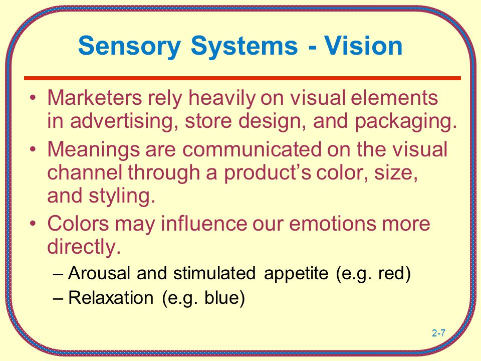 Sensory Systems - Vision
