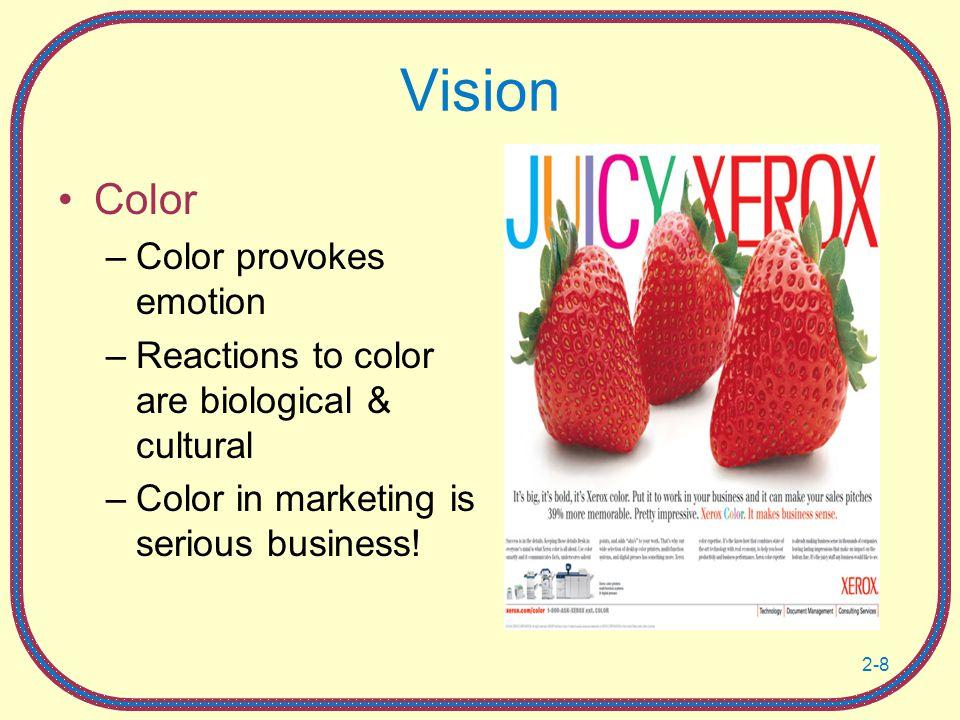 Vision Color Color provokes emotion