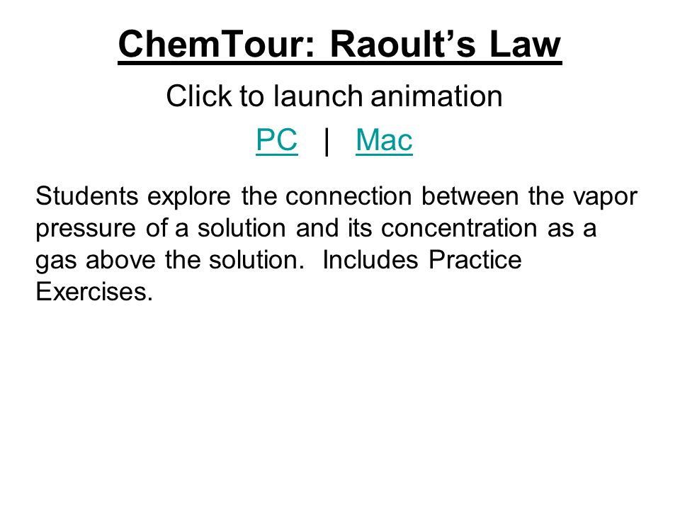 ChemTour: Raoult's Law