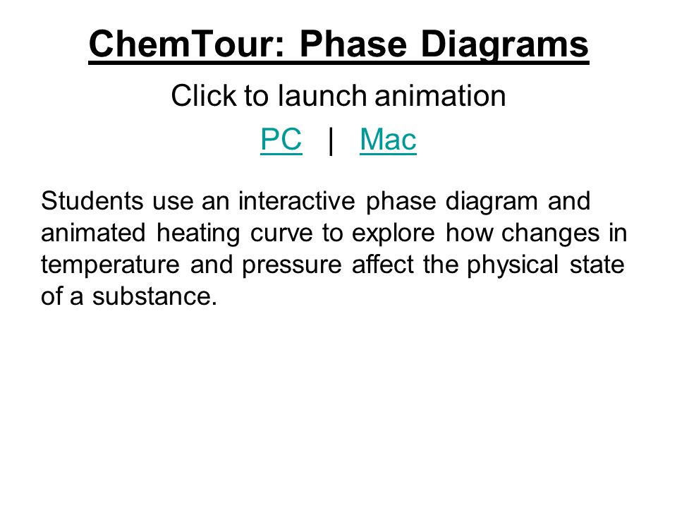 ChemTour: Phase Diagrams