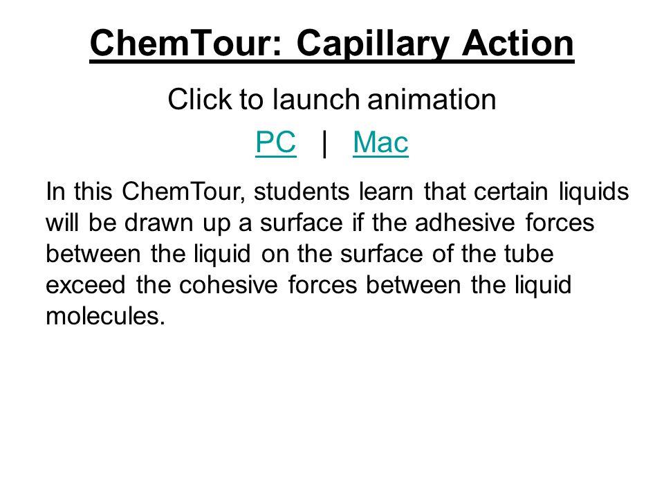 ChemTour: Capillary Action