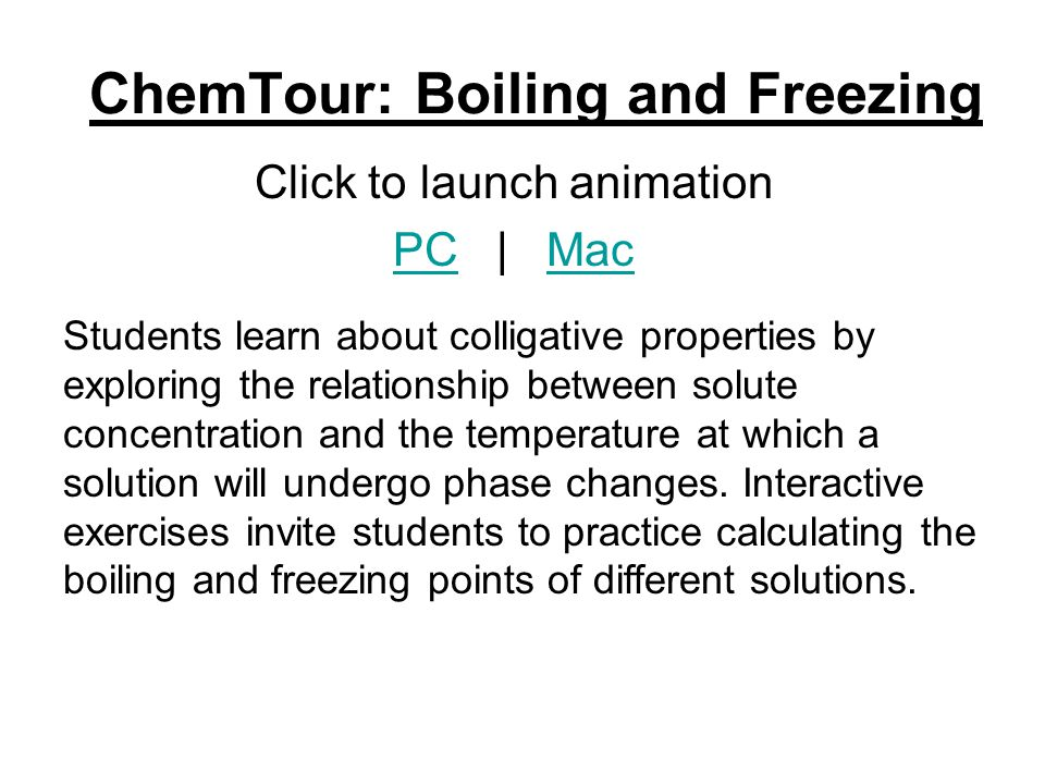 ChemTour: Boiling and Freezing