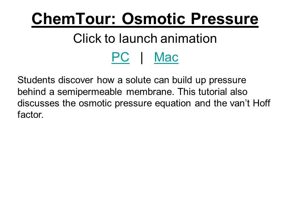 ChemTour: Osmotic Pressure