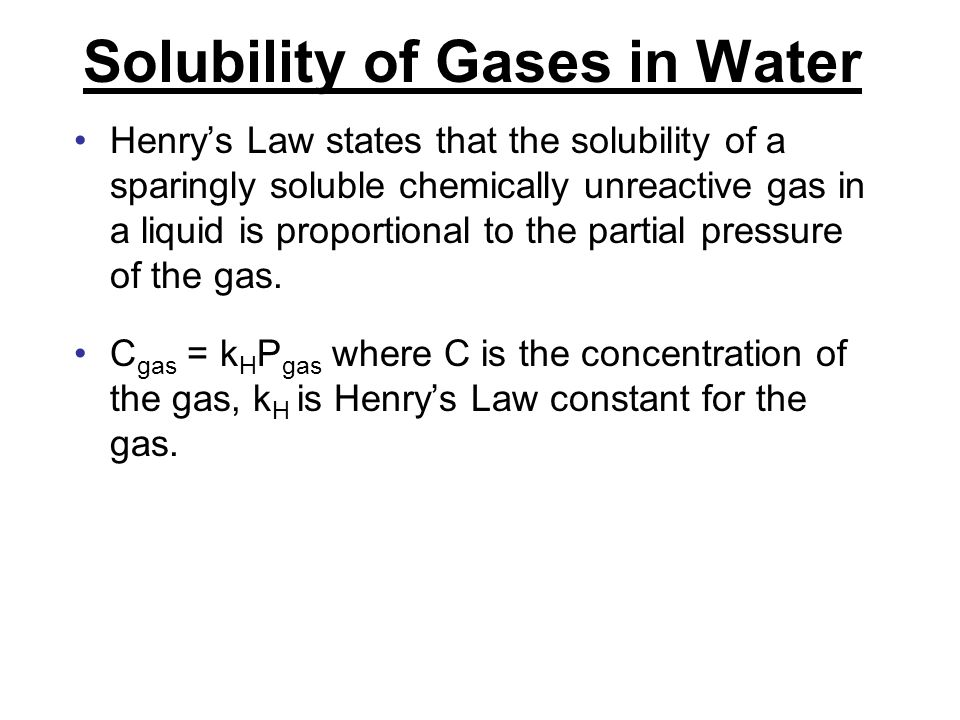 Solubility of Gases in Water