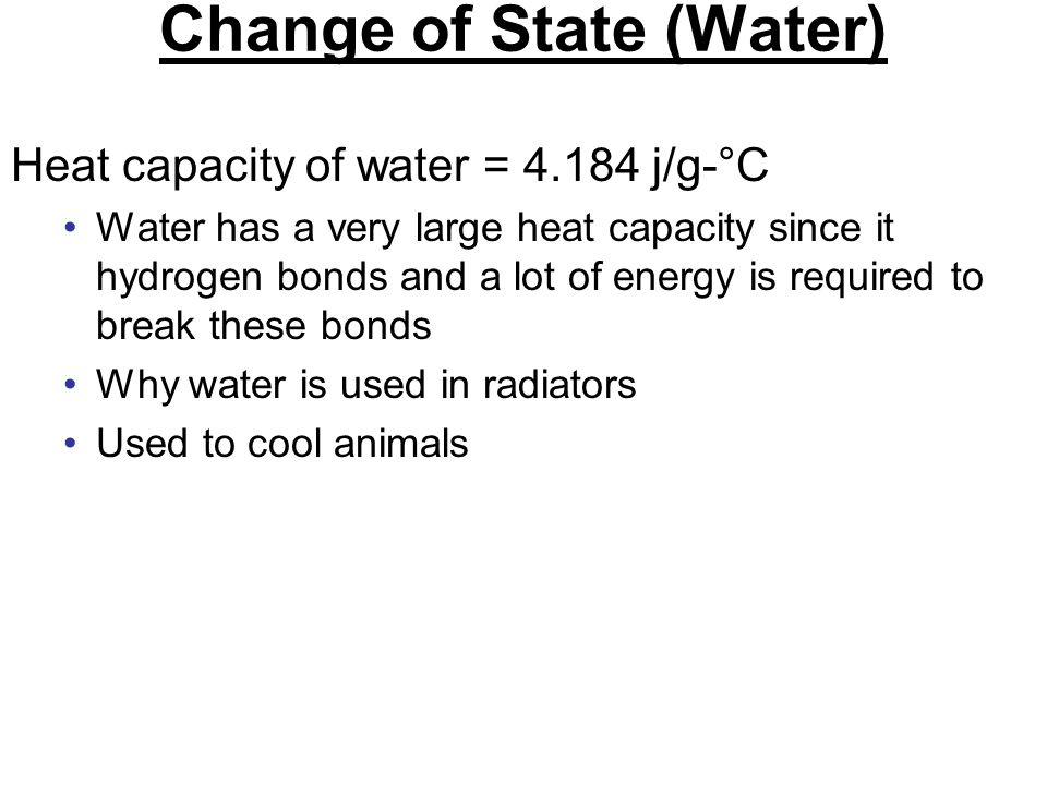Change of State (Water)