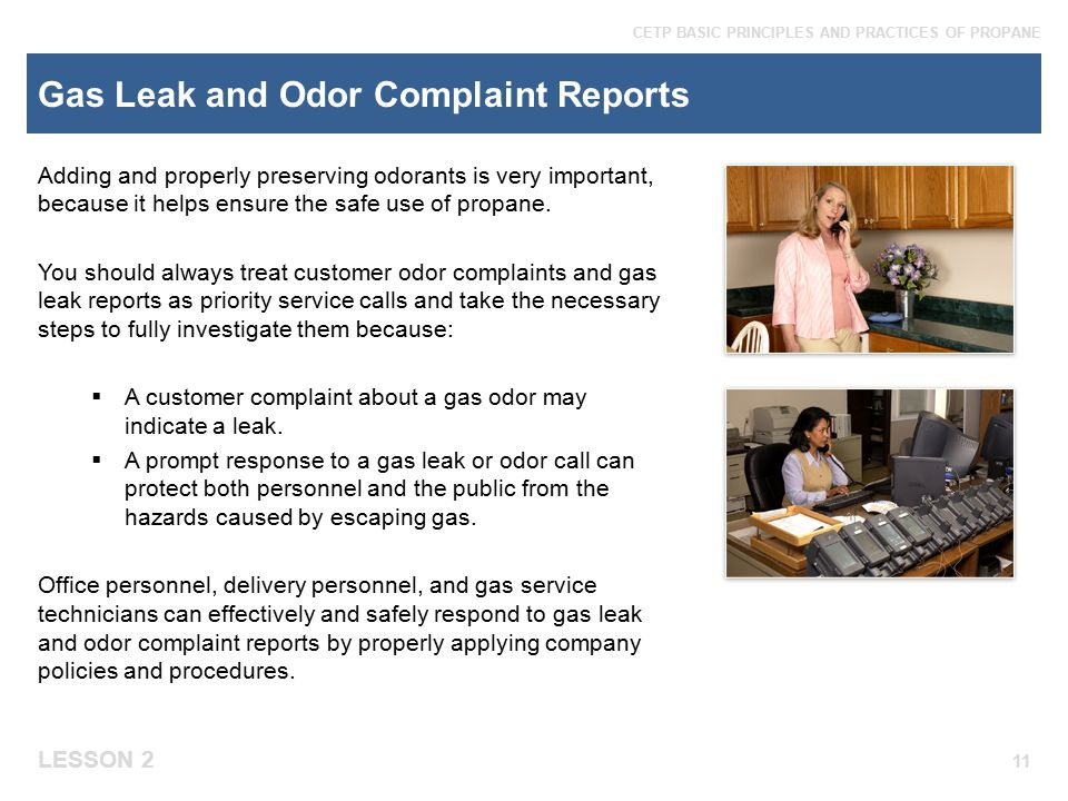 Gas Leak and Odor Complaint Reports