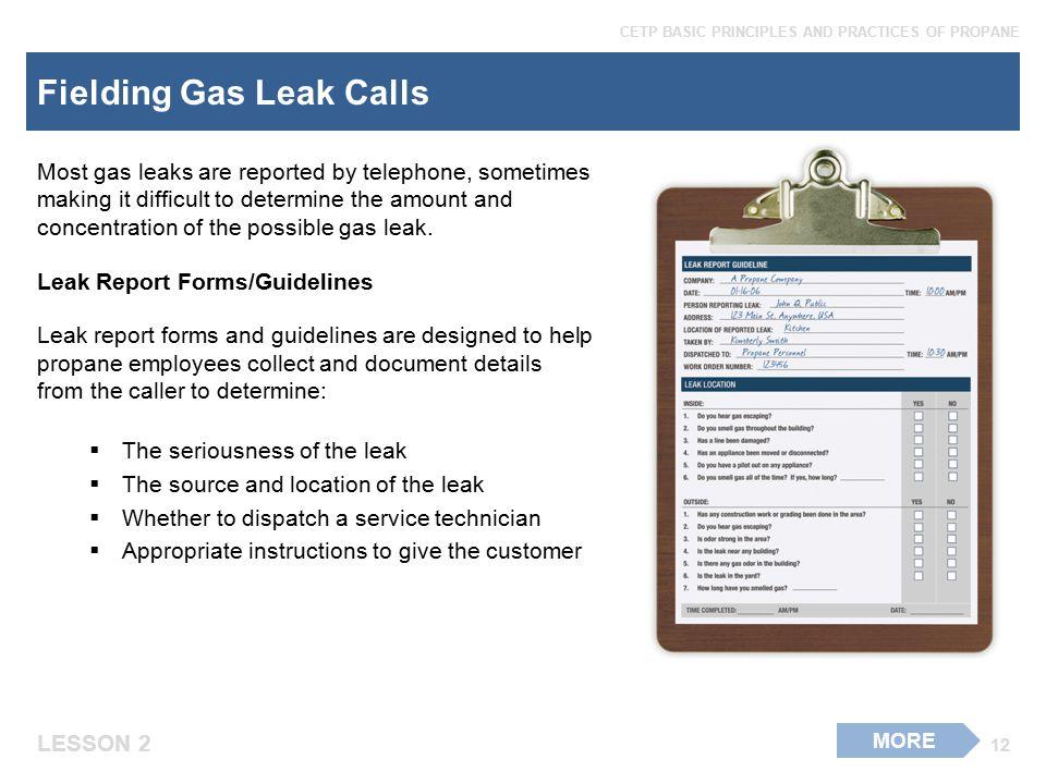 Fielding Gas Leak Calls