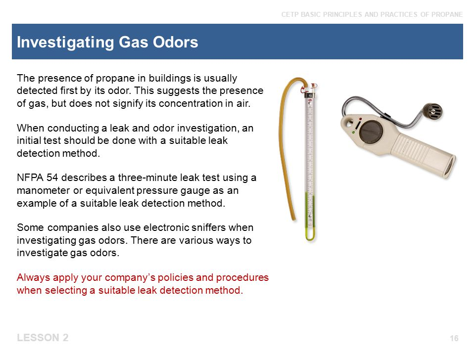 Investigating Gas Odors