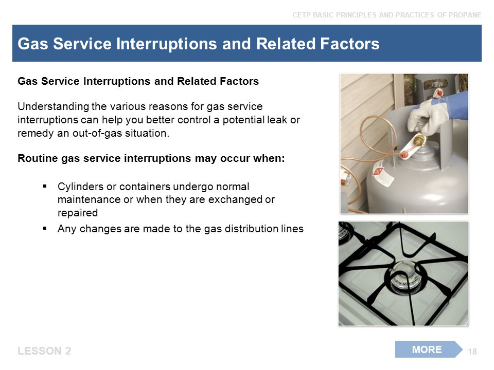 Gas Service Interruptions and Related Factors