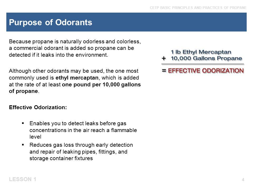 Purpose of Odorants
