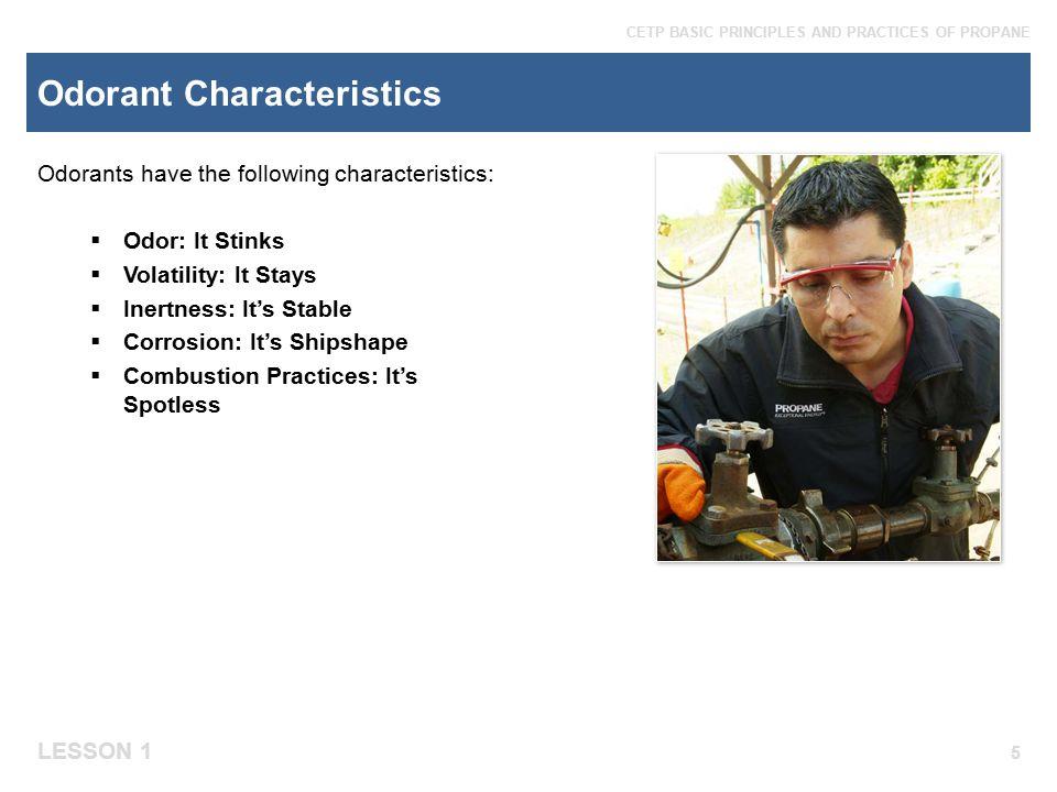 Odorant Characteristics