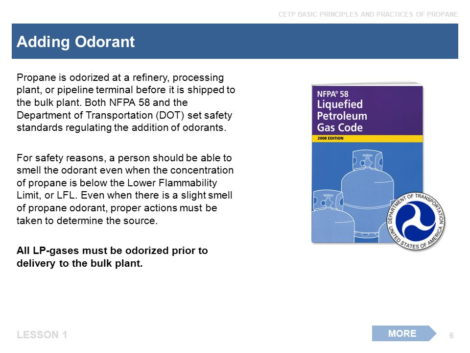 Adding Odorant