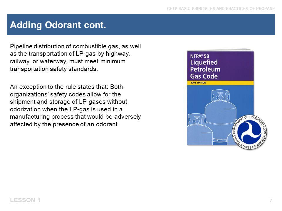 Adding Odorant cont.