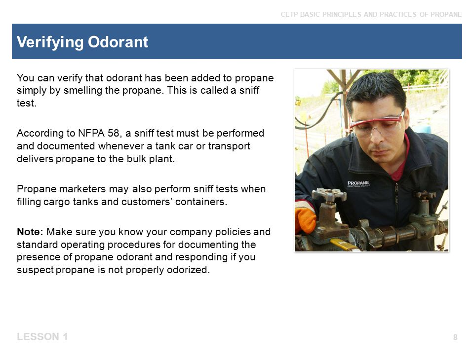Verifying Odorant