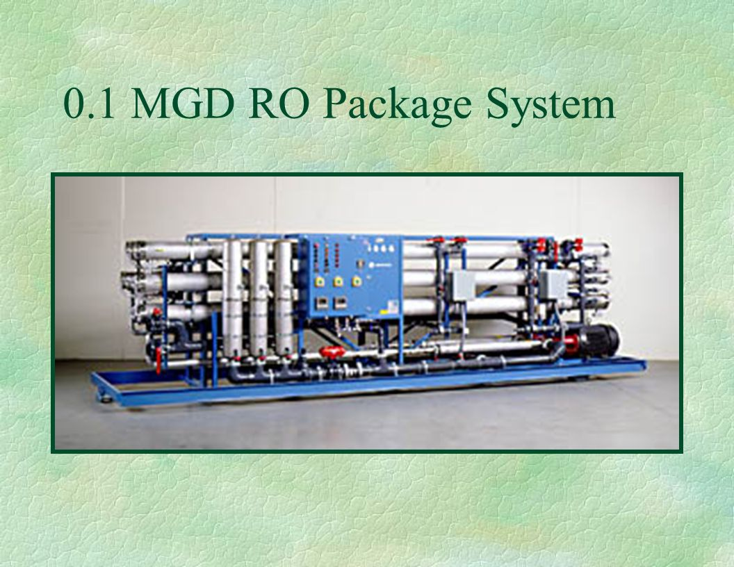 0.1 MGD RO Package System