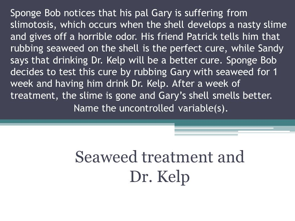Seaweed treatment and Dr. Kelp