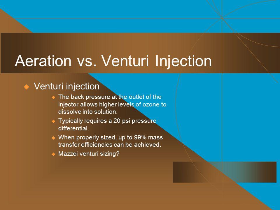 Aeration vs. Venturi Injection