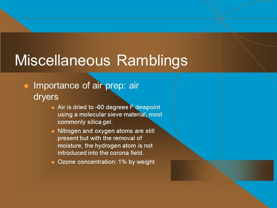 Miscellaneous Ramblings